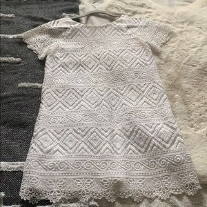 Madewell white lace dress size 0